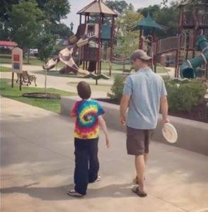 Luke and Ryan at park