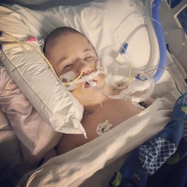 Luke in hospital