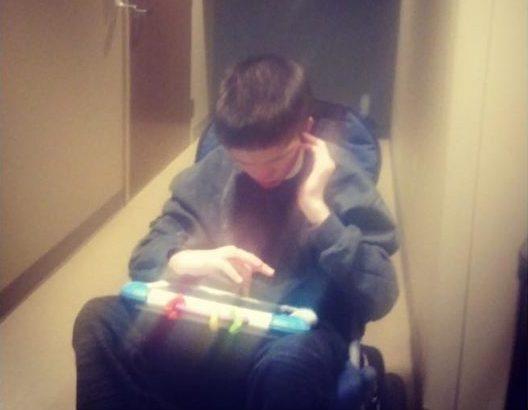 Luke with iPad