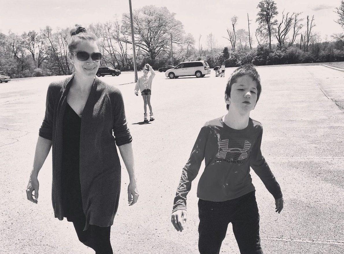 Jess and Luke walking