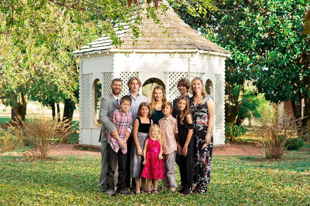 Ronne family with gazebo